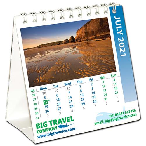 Custom personalised Mini Easel Calendars for any desk