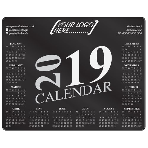Custom Printed Brite Mat Calendar Mousemats for desks