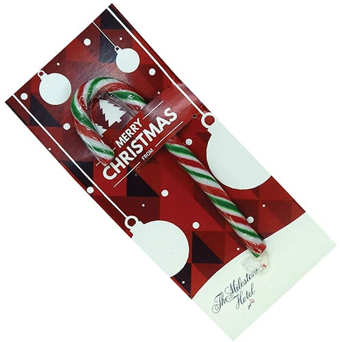 Promotional Printed Candy Cane Cards for Christmas Giveaways