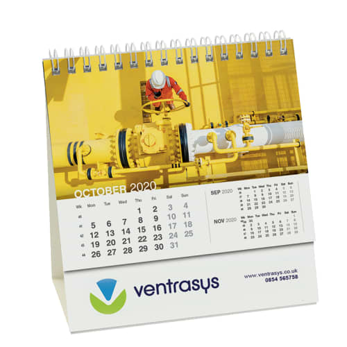 Desk Easel Calendars in White