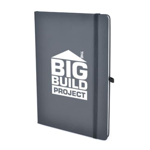 A5 Soft Touch PU Notebooks in Dark Grey