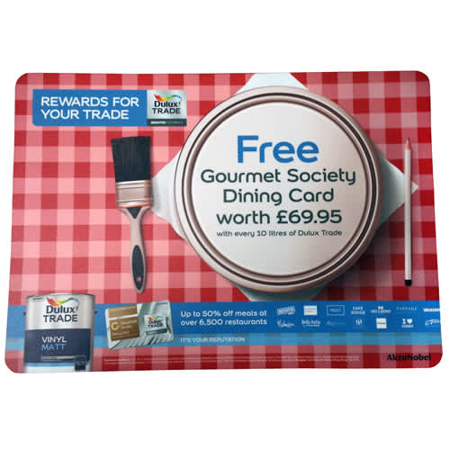 Promotional A2 Total Counter Mats for Company Merchandise