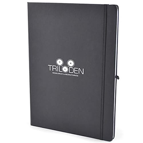 Promotional A4 Soft Touch Branded Notebooks for office marketing