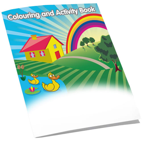 Promotional A5 8 Side Colouring Booklets for giveaways