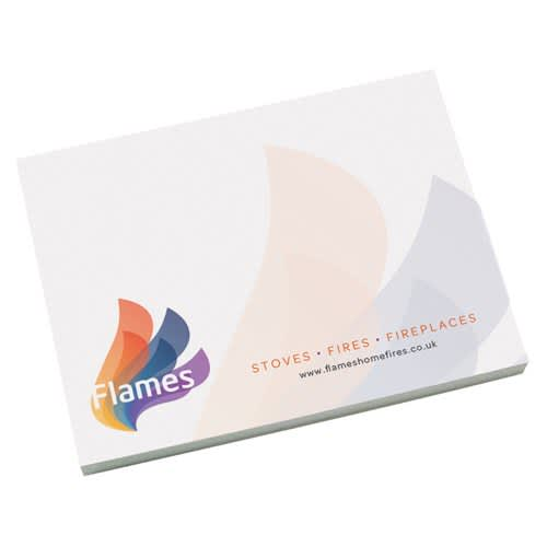 Corporate Printed A7 Sticky Notes with business logo