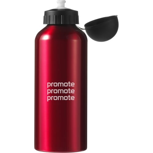 Branded 600ml Aluminium Drinks Bottle with company logos