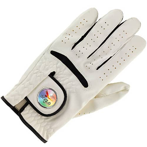 Ball Marker Golf Glove in White