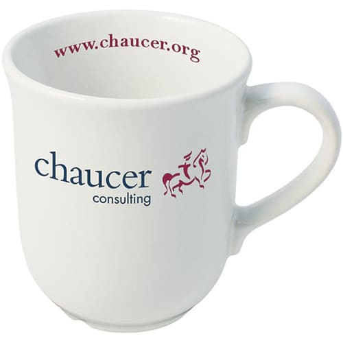 Promotional Bell Mug printed with company logo