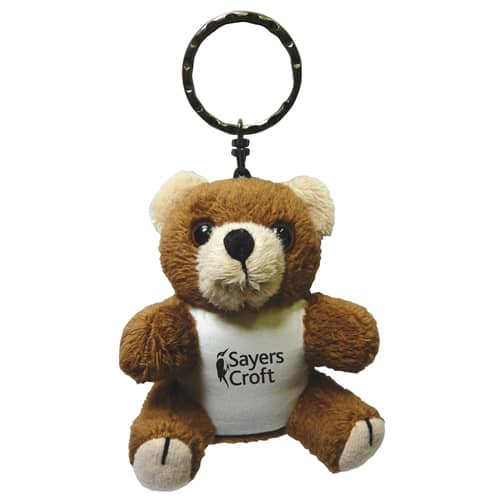 Promotional Bertie Bear Keyrings for Charity Campaigns