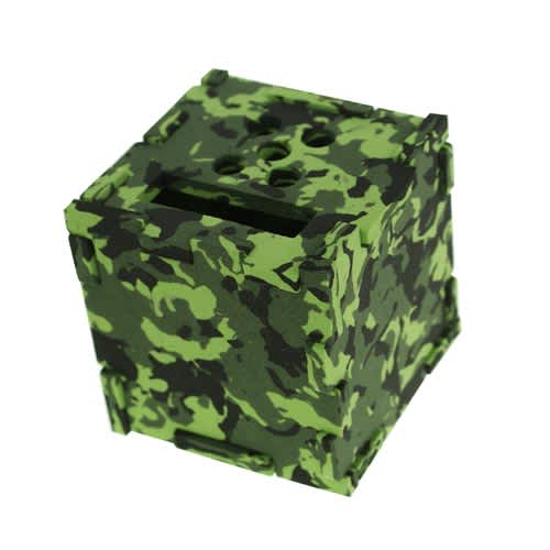 Camouflage Foam Cube Desk Tidies