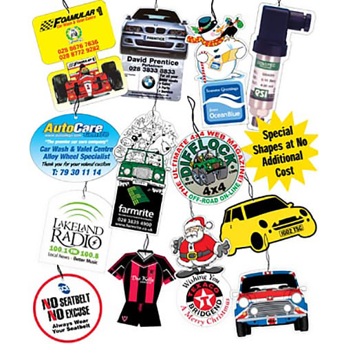 Printed Car Air Fresheners for merchandise gifts