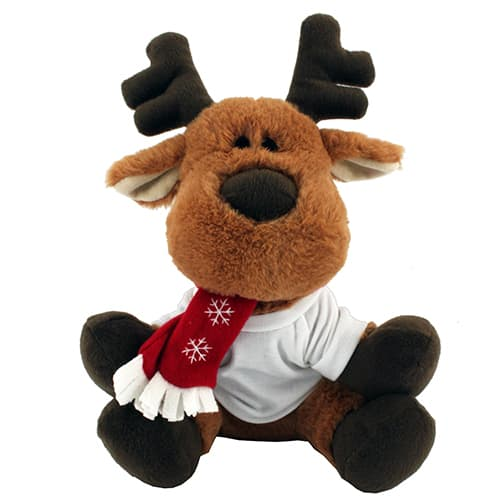 Our promotional reindeer soft toys make great Christmas giveaways, which clearly feature your branding.