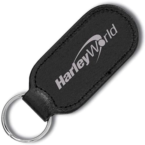 Promotional Cigar Shaped Leather Keyfobs for Company Gifts