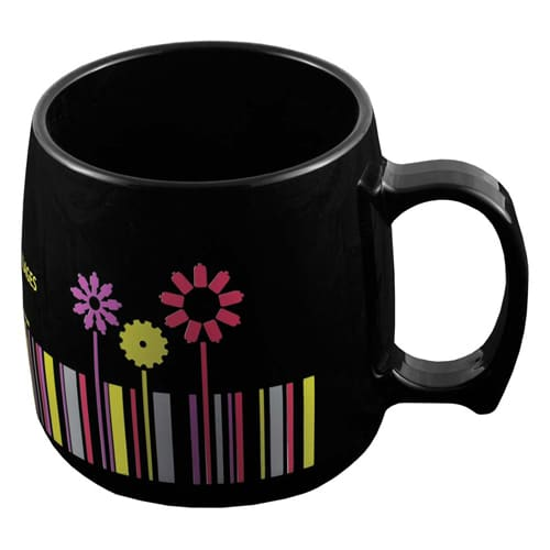 Classic Plastic Mugs in Black