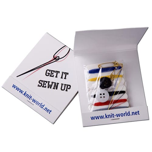 Compact Sewing Kits in White
