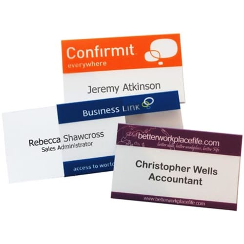 Conference Name Badges in Clear