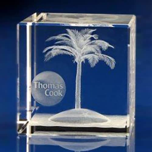 Promotional Crystal Cubes made from high quality crystal with bevelled edges