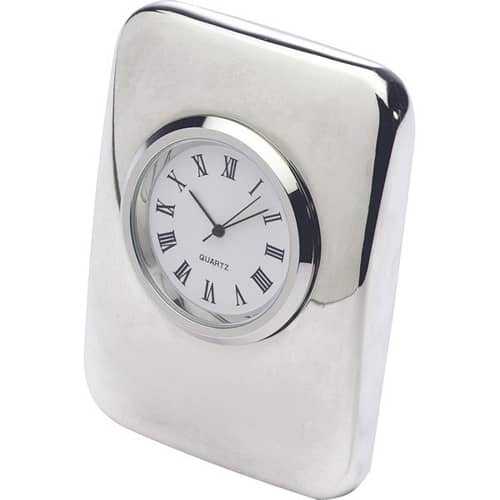 Custom engraved Cushion Clocks for desks