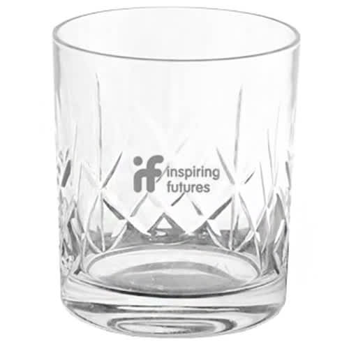 Promotional Heavy Cut Crystal Tumblers with Company Logos