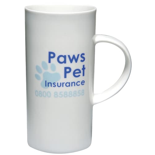 Printed Cylinder Bone China Mugs for Business Gifts