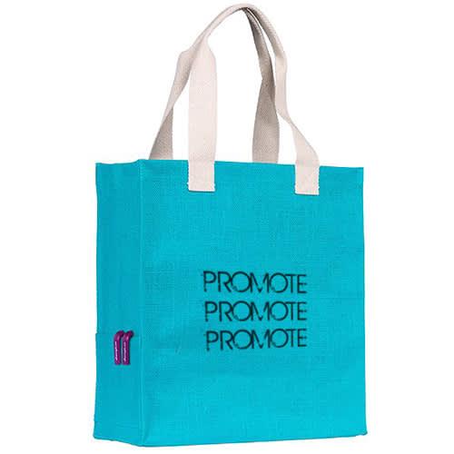 Dargate Jute Tote Bags in Turquoise