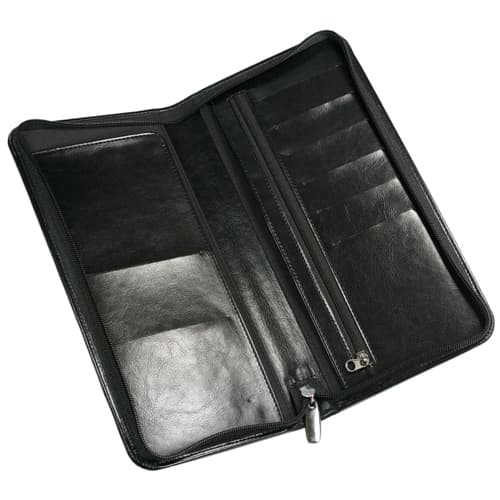 RFID Darwin PU Zipped Travel Wallets