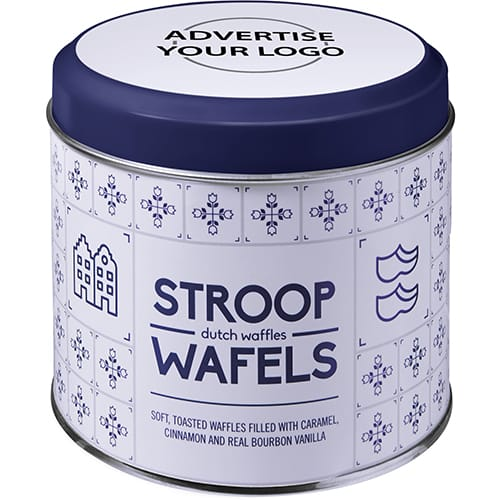 Personalised Dutch Stroop Caramel Waffles for Event Merchandise