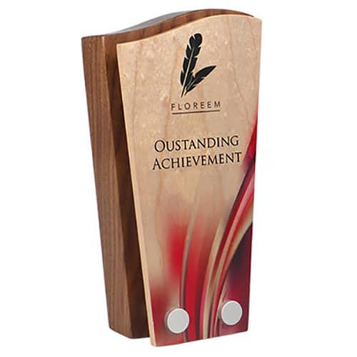 Promotional Face Plate Real Wood Awards for Event Merchandise
