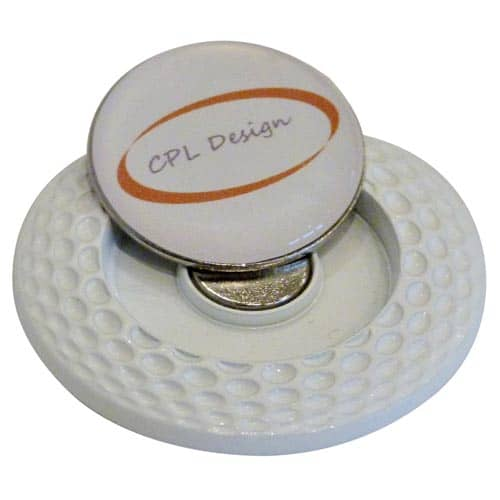 Fairway Ball Markers in White