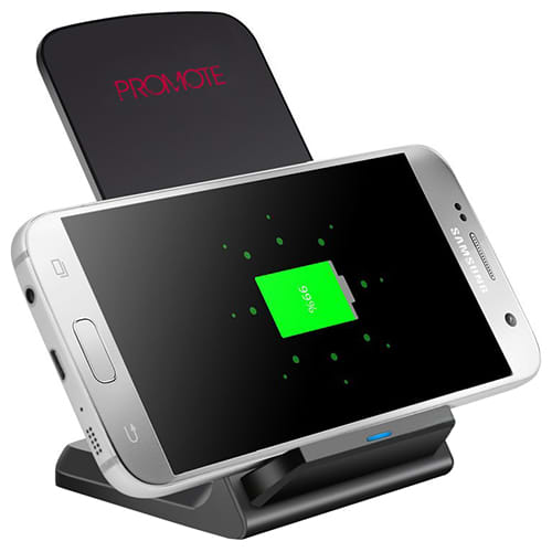 Our Fast Wireless Chargers are a promotional giveaway that will keep your branding on customers' desks!