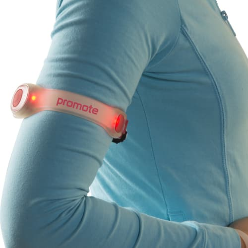 Personalised Flashing LED Silicon Arm Straps for Fitness Campaigns