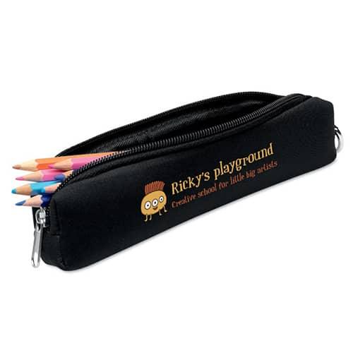 Foam Pencil Cases in Black