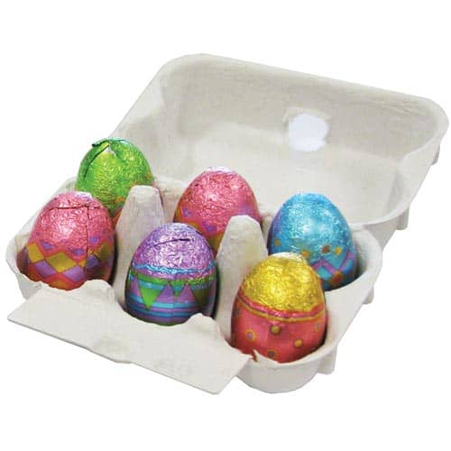 Promotional Mini Foil Chocolate Egg Cartons for Easter Campaigns
