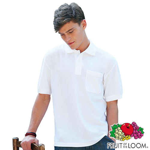 d3f368da Fruit of the Loom Pocket Polo Shirts | Promotional Clothing