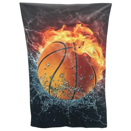 Custom Printed Full Colour Blanket Throws branded with company design