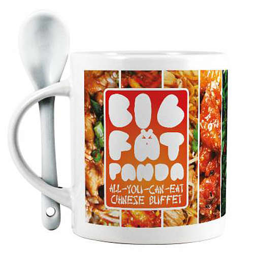 Promotional Full Colour Spoon Mugs for Company Merchandise