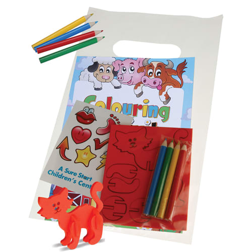 Fun Activity Pack in White