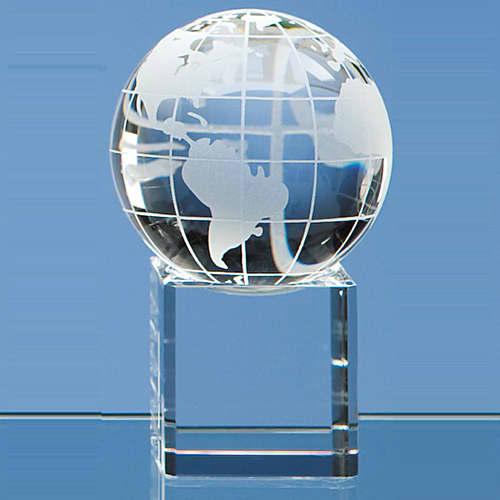 Globe on Clear Base in Clear