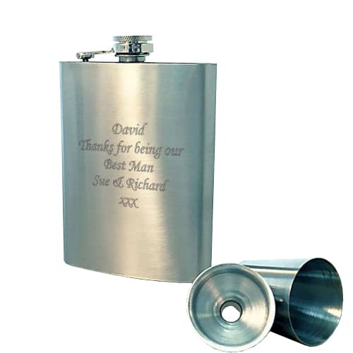 Personalised Hip Flask and Cup Sets made from stainless steel