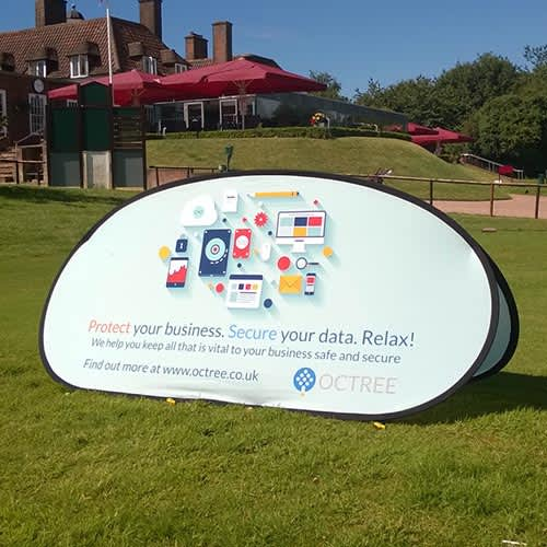 Our promotional Horizontal Pop Out Banners are ideal for use at events.