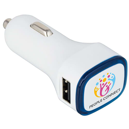 Promotional Illuminated USB Car Chargers with company logo
