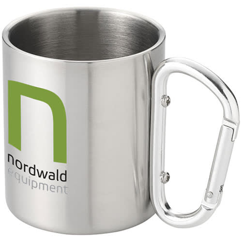 Insulated Carabiner Mug in Silver