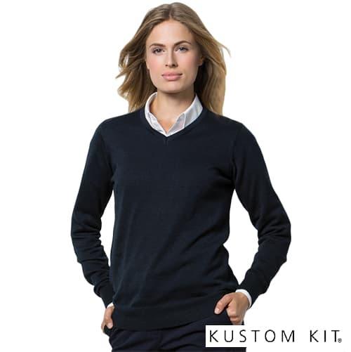 Kustom Kit Arundel Ladies V Neck Sweatshirts