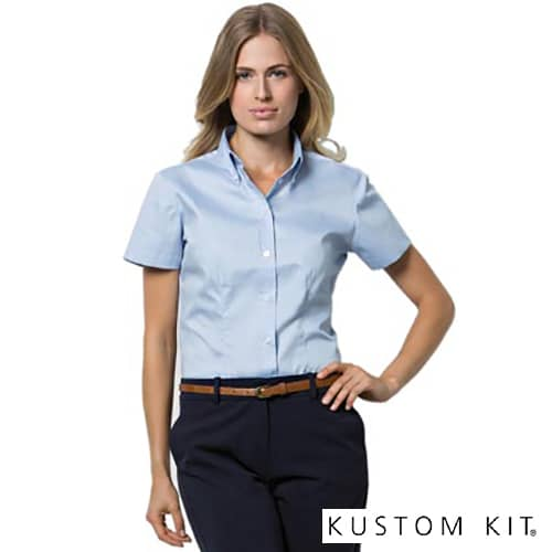 Kustom Kit Ladies Short Sleeve Shirts