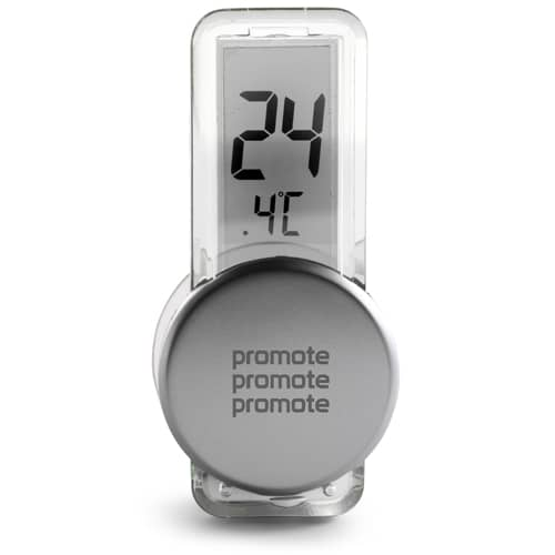 LCD Thermometers in Silver