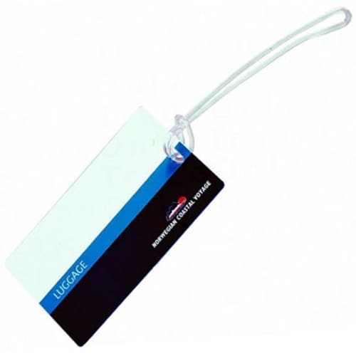 Laminated Luggage Tags in White