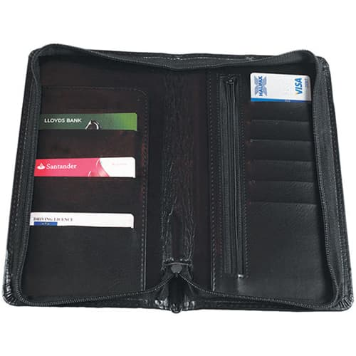 Promotional Leather Look Travel Wallets for Company Gifts