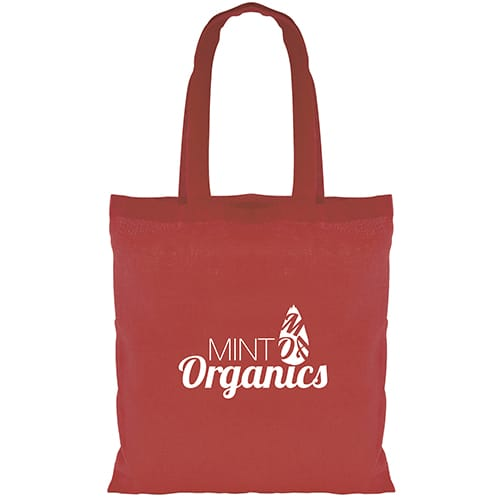These printed mini cotton shopping bags are available in 8 colours