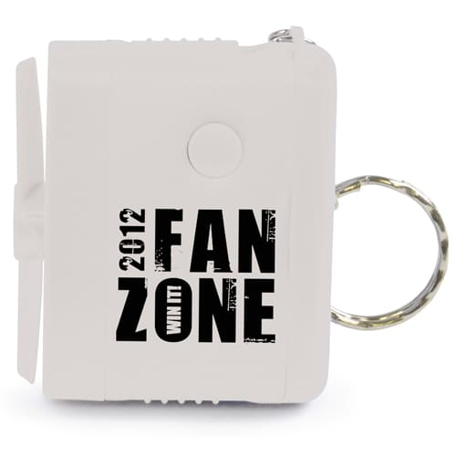 Personalised Miniature Fan Keyrings for Budget Friendly Handouts