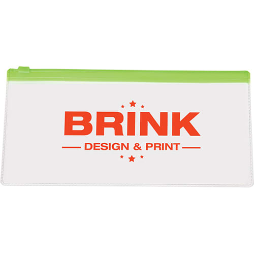 PVC Transparent Pencil Case in Transparent/Green